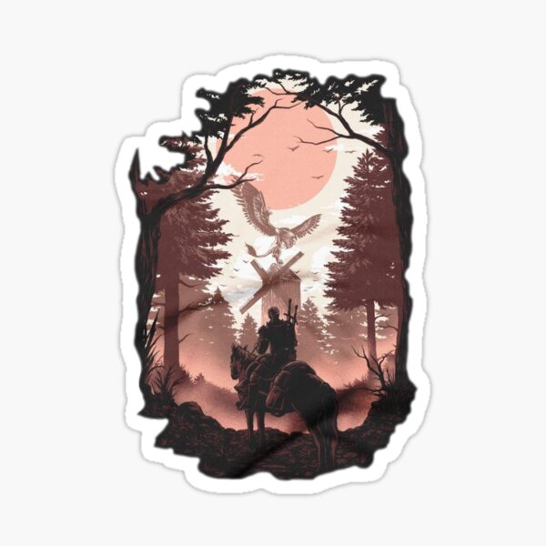The story of the Witcher, wild Hunt Sticker