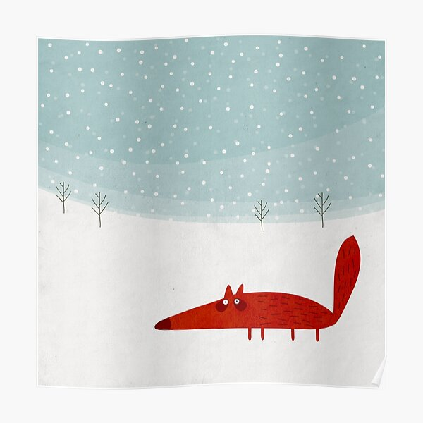 Fox in the snow Poster