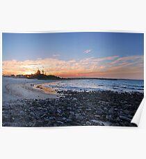 Forster Main Beach - Winter Sunset Poster