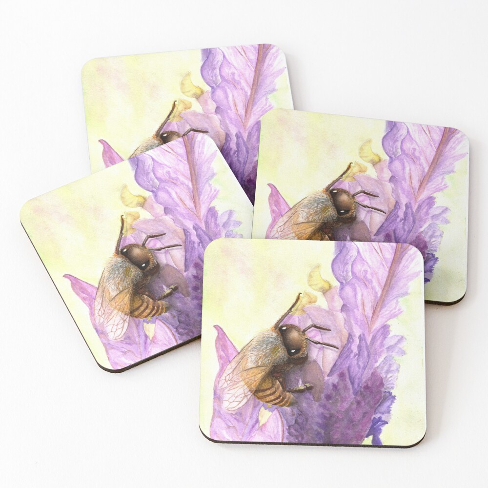 Bee Bliss Coasters (Set of 4)