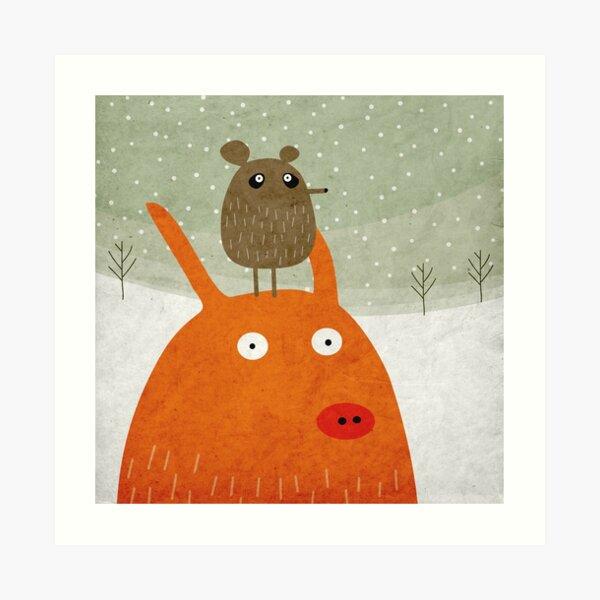 Pig and rat Art Print