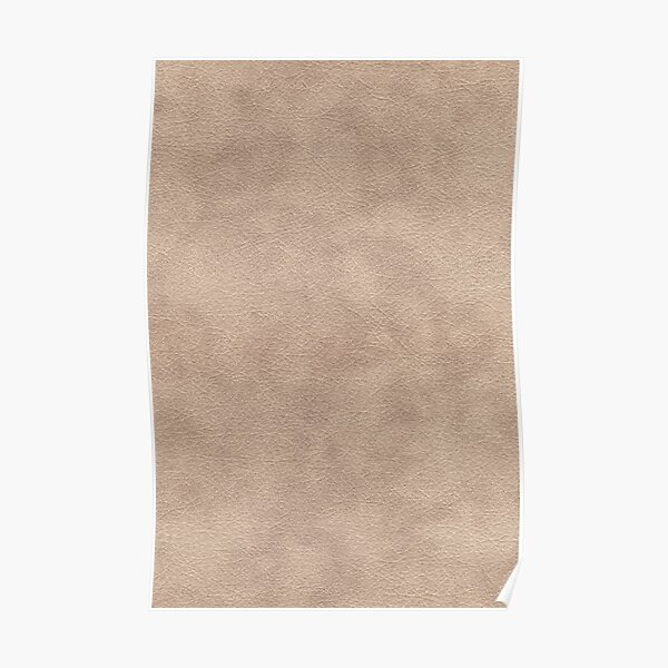 Light brown leather Poster