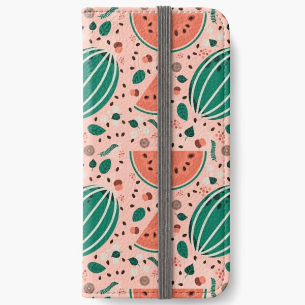 Playful Watermelon Seamless Pattern iPhone Wallet