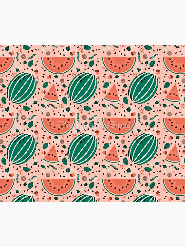 Playful Watermelon Seamless Pattern by TheCreativeBros