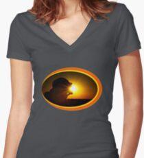 Sun Eater Women's Fitted V-Neck T-Shirt
