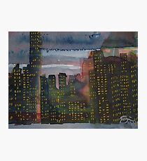 Corporate Sunset Photographic Print