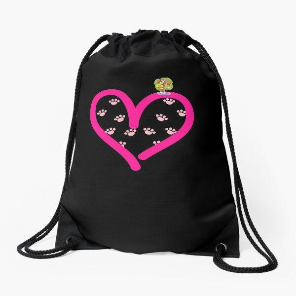 Cavalier King Charles Spaniel Dog in my Heart Paw Love Drawstring Bag