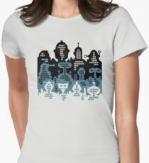 ROBOT CITY! Womens Fitted T-Shirt