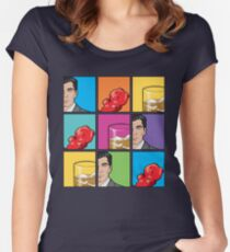 scotch & gummy bears pattern Women's Fitted Scoop T-Shirt