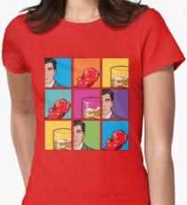 scotch & gummy bears pattern Womens Fitted T-Shirt