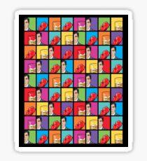 scotch & gummy bears pattern Sticker