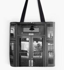 Double Doors in Globe Tote Bag