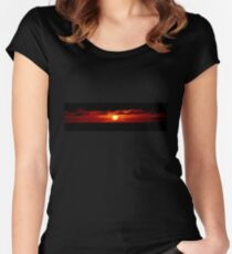 Galapagos Islands Sunset Women's Fitted Scoop T-Shirt