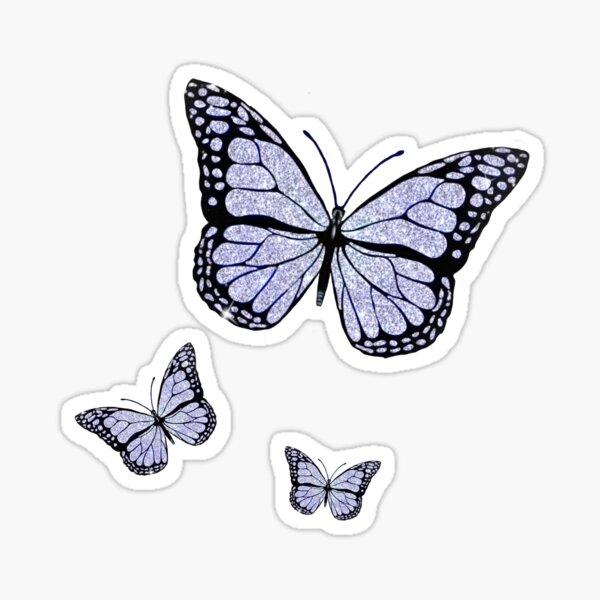 Sparkly butterflies  Sticker