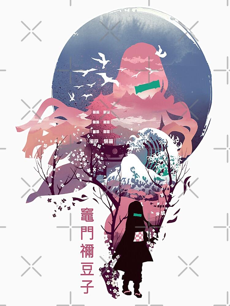 Fantasy Anime Demon Slayer Kamado Nezuko Awesome Arts by JeannieMark19