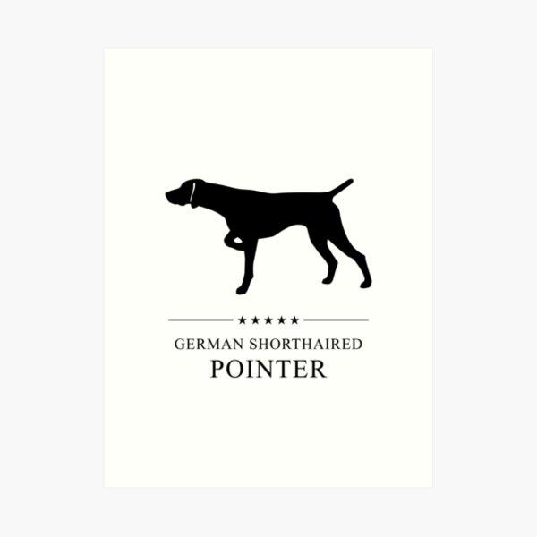 German Shorthaired Pointer Black Silhouette Art Print