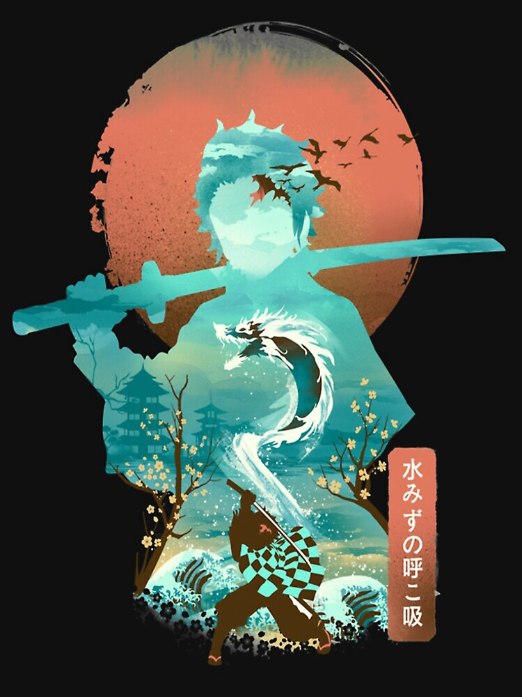 Demon Slayer Adventure Anime Tanjiro Kamado Awesome Art by JeannieMark19