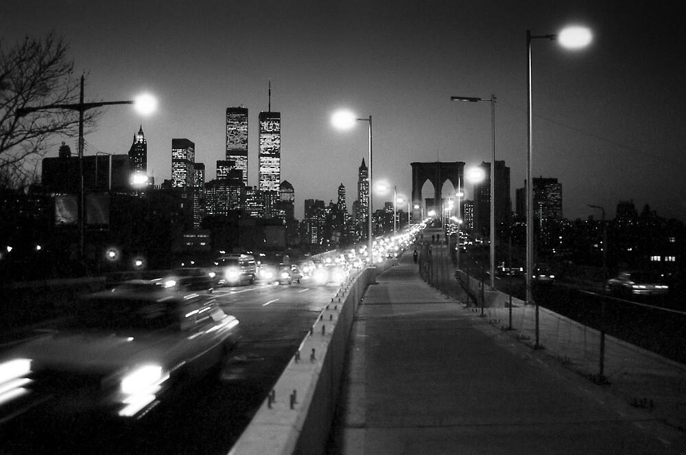 Manhattan from Brooklyn Bridge 1980s by Gary Eason