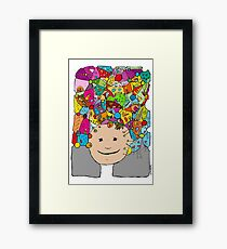 all the world in my head Framed Print