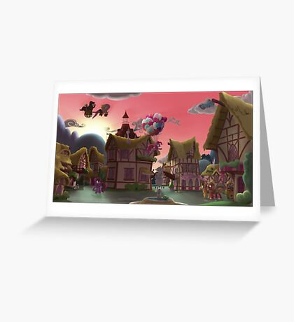 Ponyville, Dawn Greeting Card