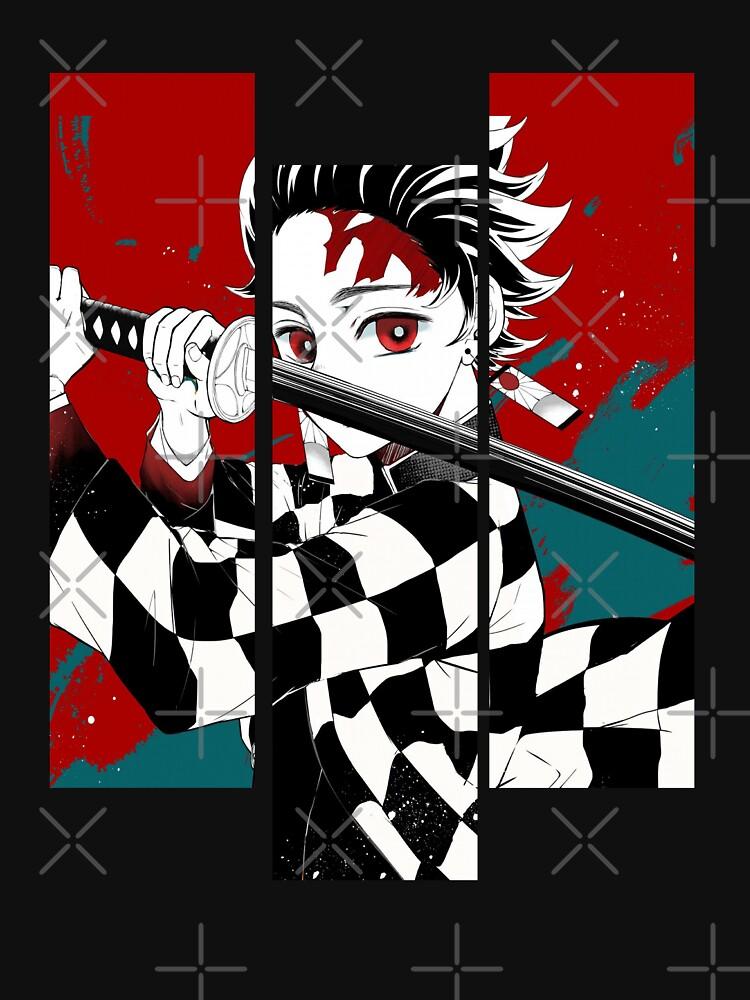 Vintage Demon Slayer Dark Fantasy Anime Character Tanjiro Kamado by JeannieMark19
