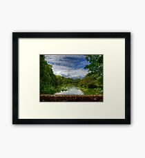 The River Itchen from a Bridge at Itchen Stoke Framed Print