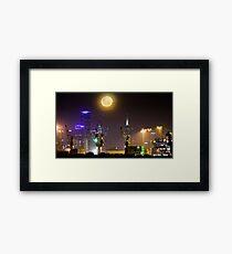 Moonrise over Melbourne Framed Print