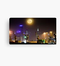 Moonrise over Melbourne Canvas Print