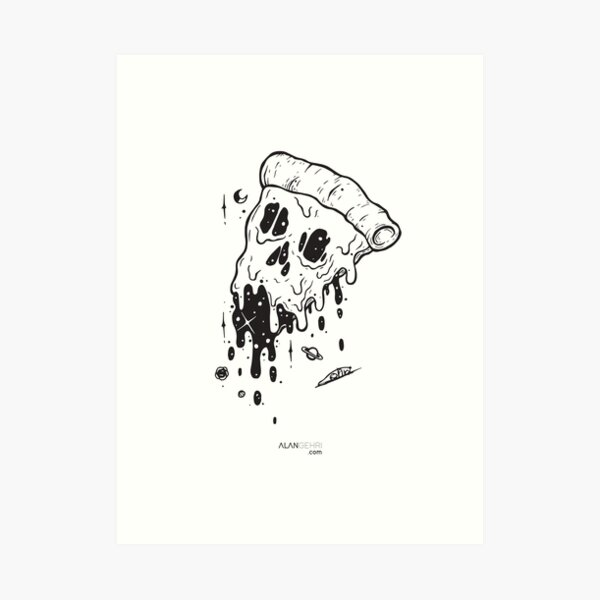 give me a slice Art Print