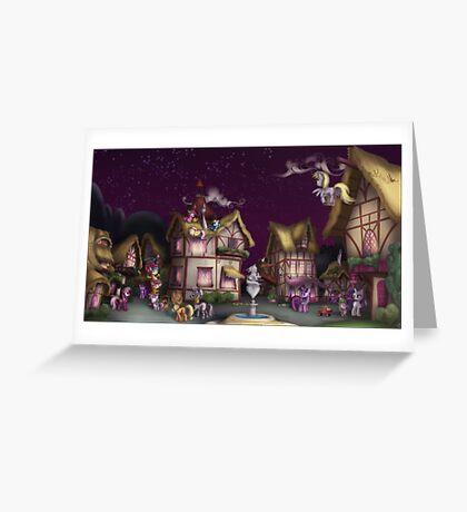 Ponyville, Dusk Greeting Card