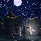Ponyville, Night by Stinkehund