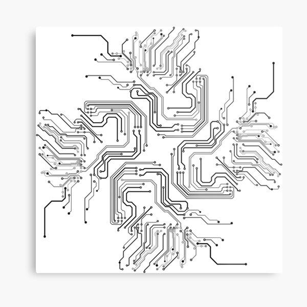 MICRO SCHEME Metal Print