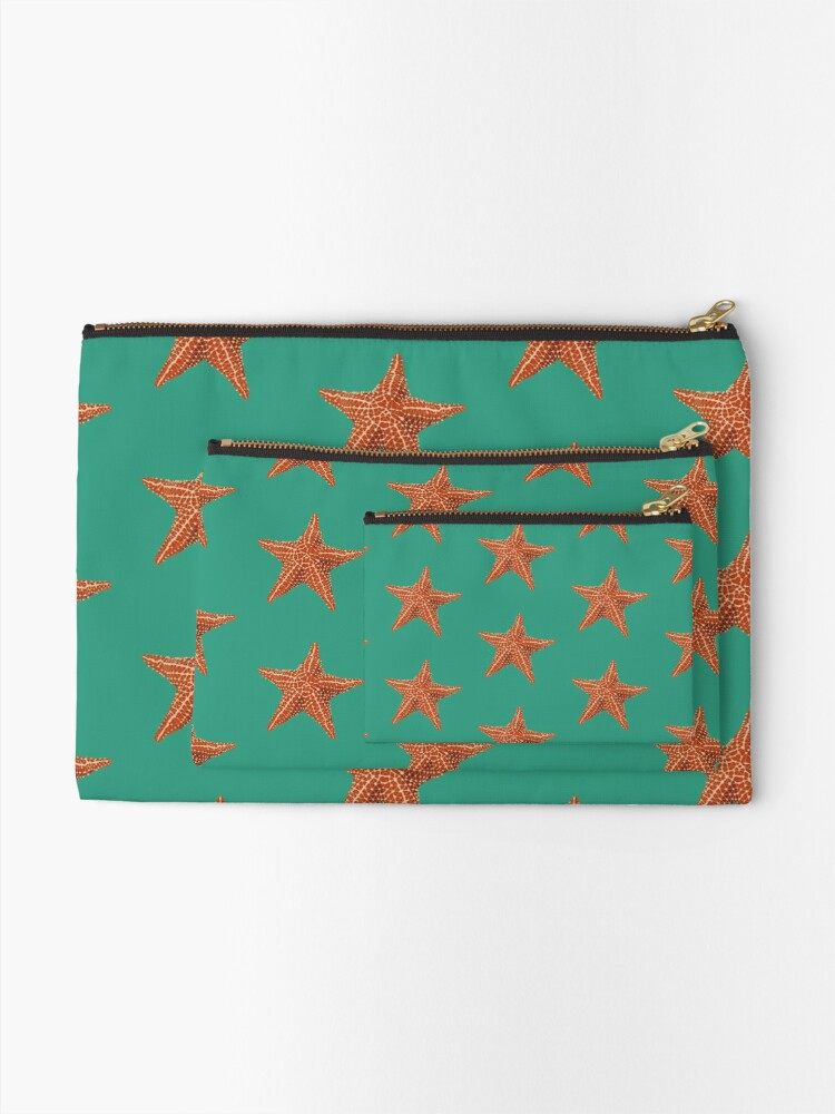 Alternate view of Starfish Zipper Pouch