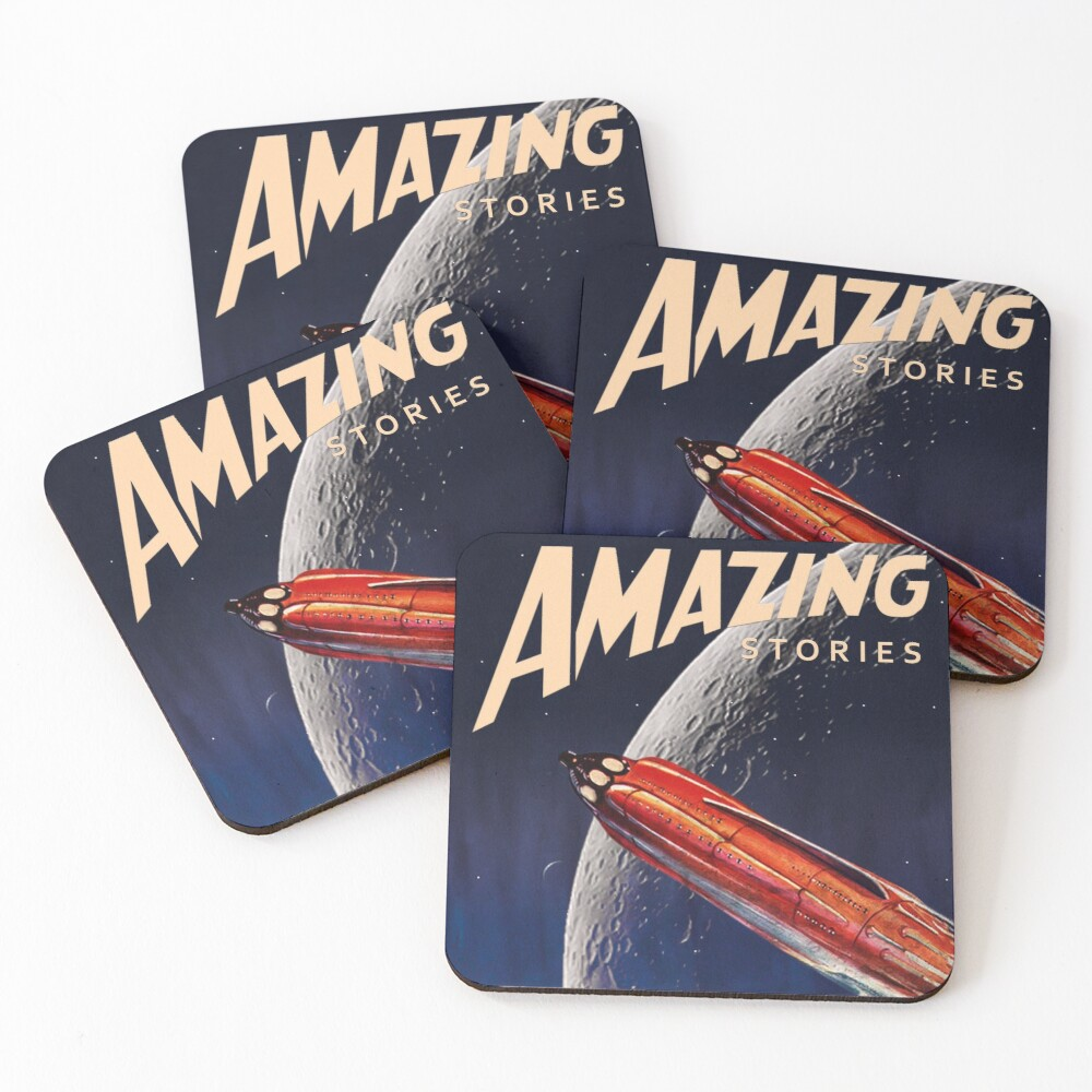 AMAZING STORIES SCIENCE FICTION Coasters (Set of 4)