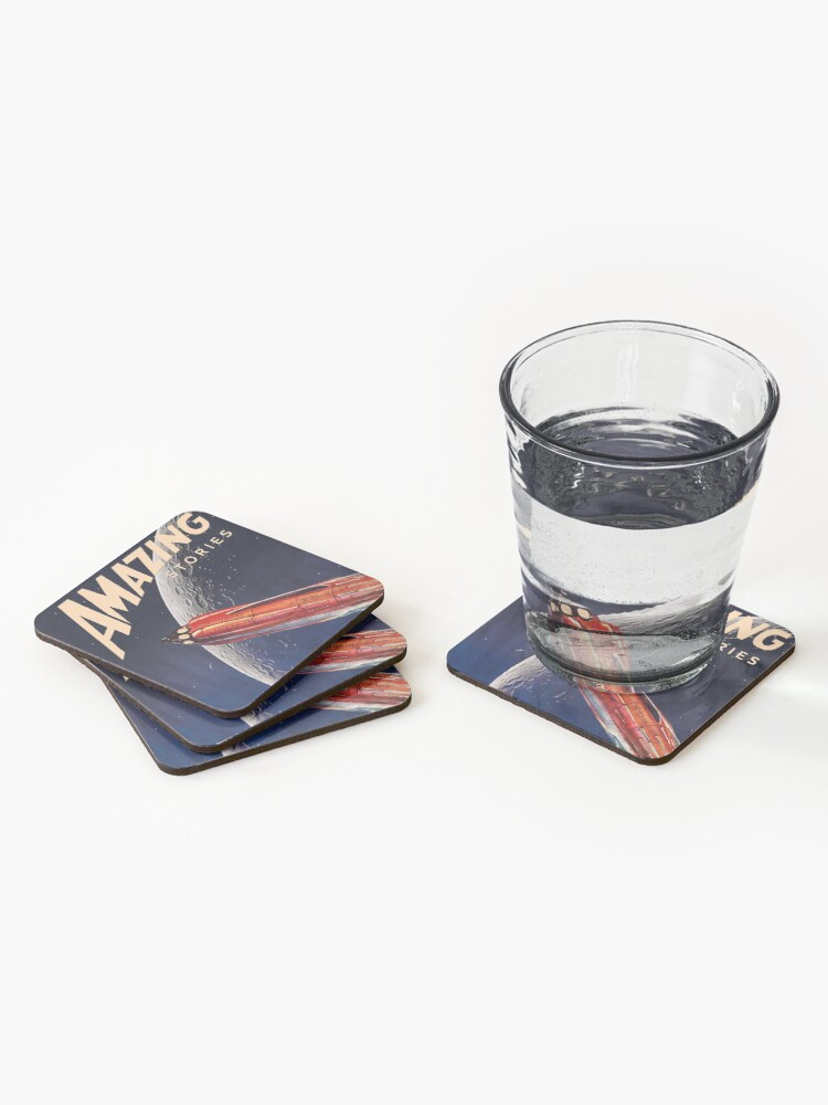 Alternate view of AMAZING STORIES SCIENCE FICTION Coasters (Set of 4)