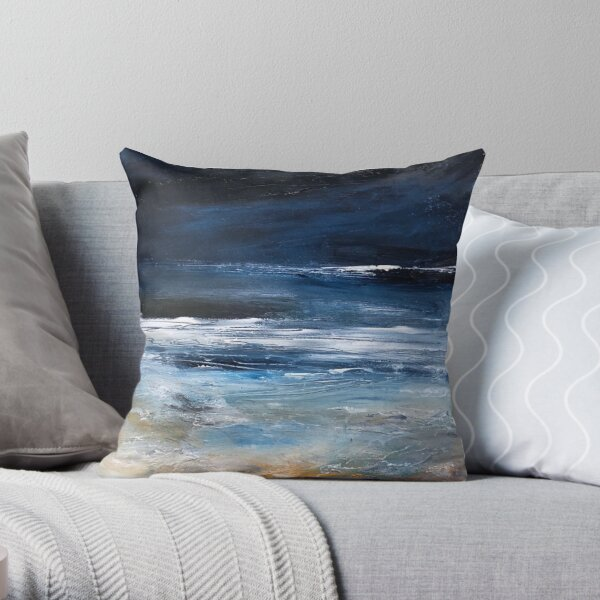 To Catch a Wave // seascape // surf Throw Pillow