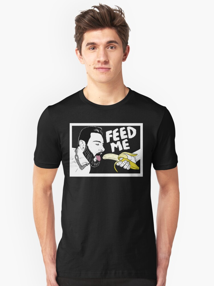 Alternate view of Hungry Teddy Bryce - dark background Slim Fit T-Shirt
