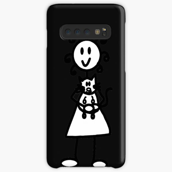 The Girl with the Curly Hair Holding Cat - Black Samsung Galaxy Snap Case