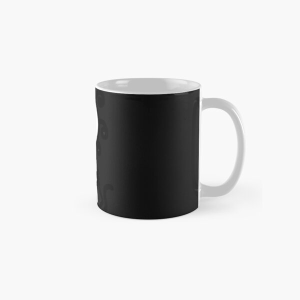 The Girl with the Curly Hair Holding Cat - Black Classic Mug