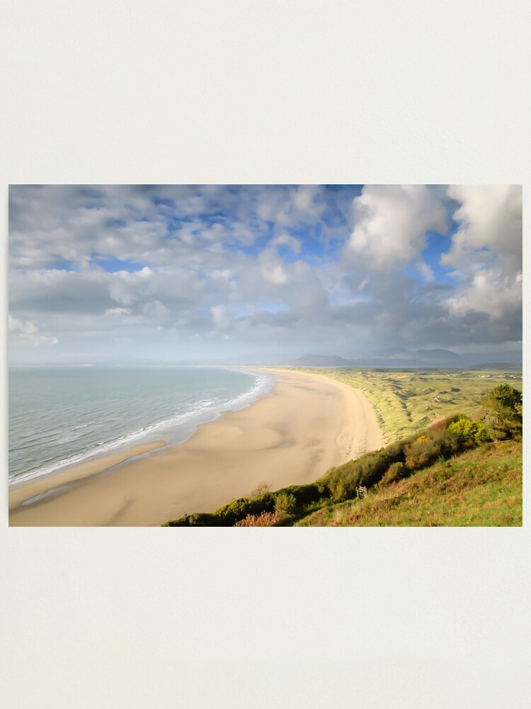 Alternate view of Harlech Beach, mid-Wales Photographic Print