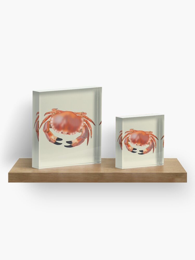 Alternate view of Crab Acrylic Block