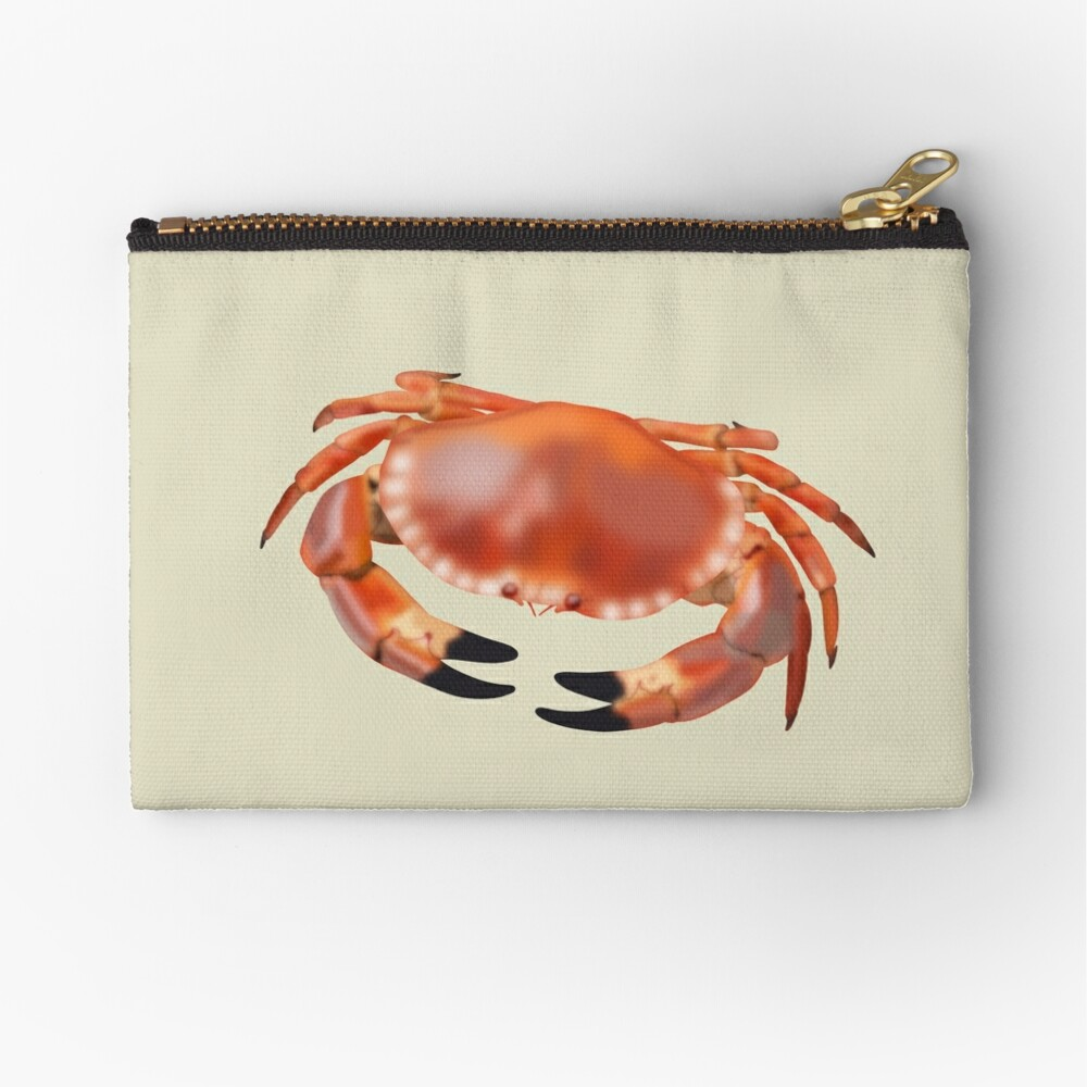 Crab Zipper Pouch
