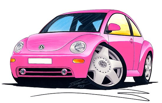 VW New Beetle Pink by yeomanscarart