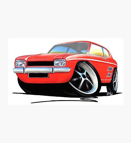 Ford Capri (Mk1) Red Photographic Print