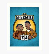 Greendale Street  Art Print