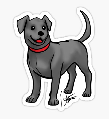 Black Lab Glossy Sticker