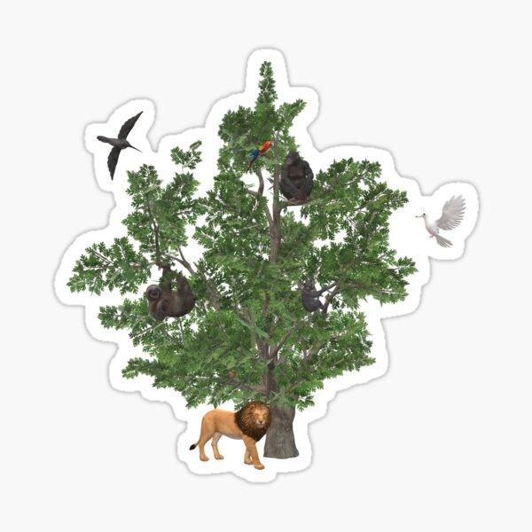 Animals in a tree Sticker