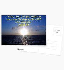 """Isaiah 60:1""  by Carter L. Shepard Postcards"