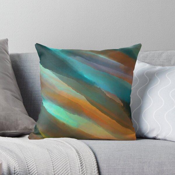 Seasalt and Rust Throw Pillow