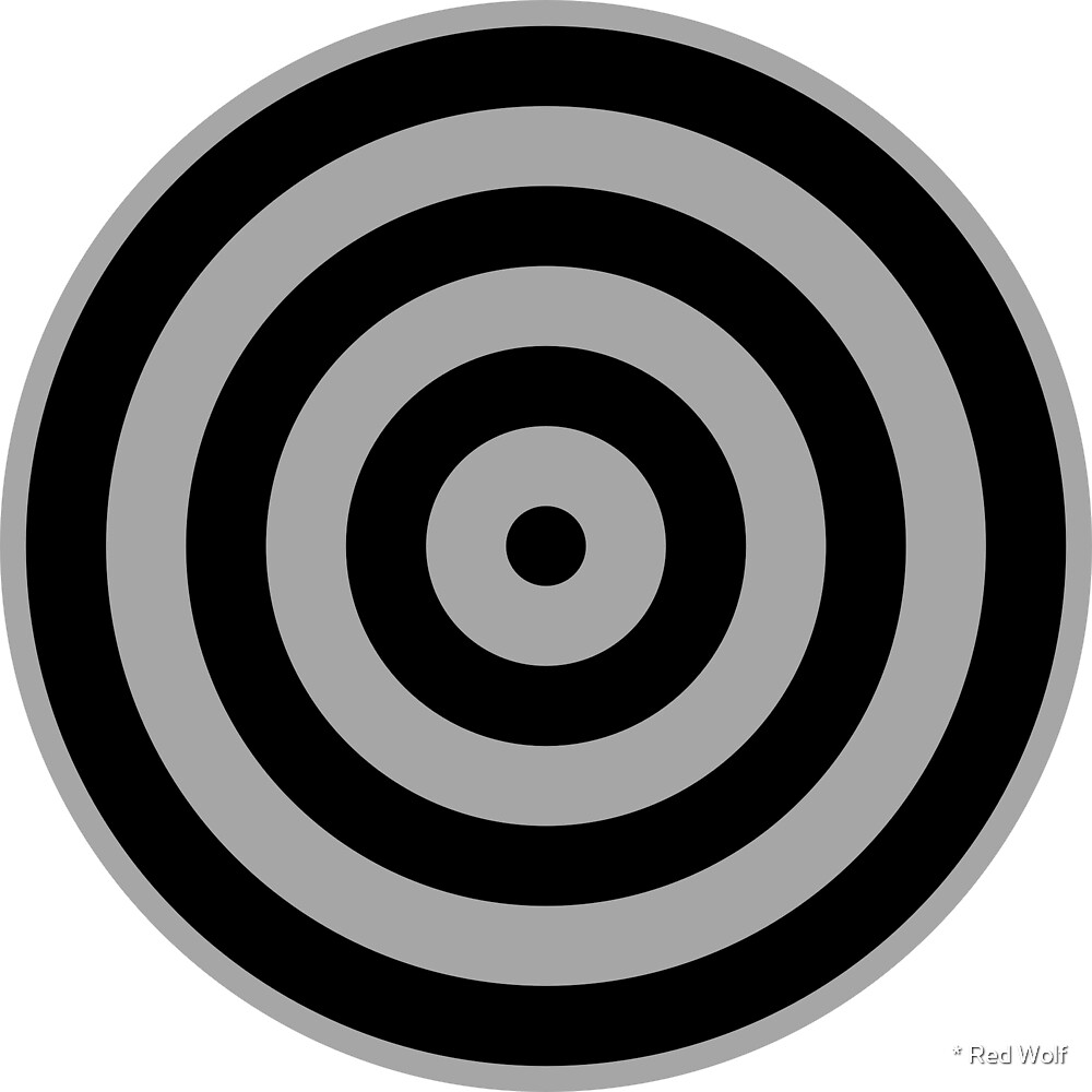 Geometric Pattern: Rondel: Black Silver by * Red Wolf